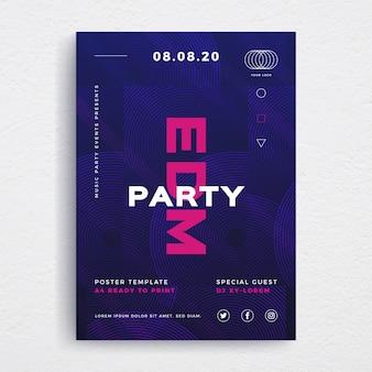 Modèle de flyer de fête abstraite