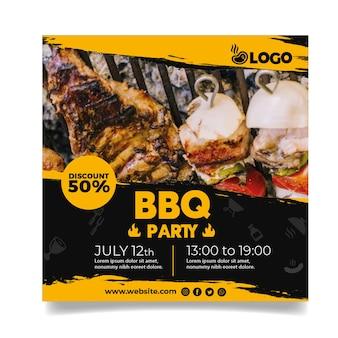 Modèle de flyer de fête barbecue