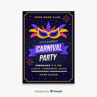 Modèle de flyer fête carnaval