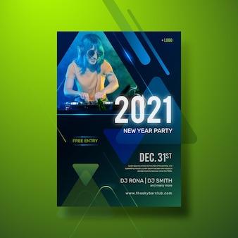 Modèle de flyer de fête du nouvel an 2021