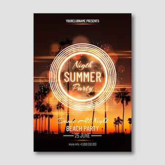 Modèle de flyer de fête d'été