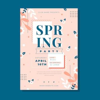 Modèle de flyer de fête de printemps