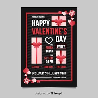 Modèle de flyer fête saint valentin