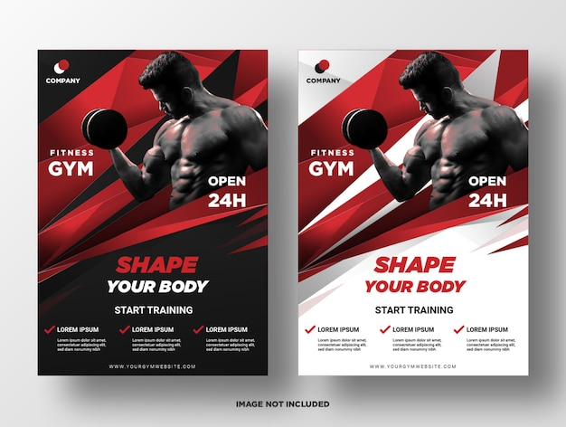 Modèle de flyer fitness gym.