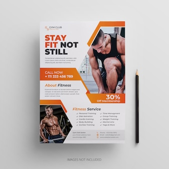 Modèle de flyer de fitness-gym