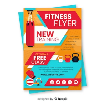 Modèle de flyer fitness moderne