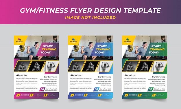 Modèle de flyer fitness