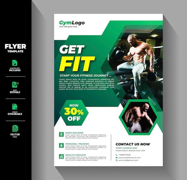 Modèle de flyer de formation d'entraînement de fitness gym