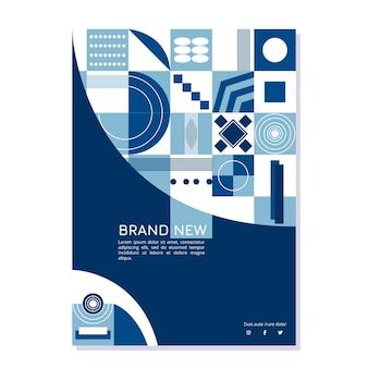 Modèle de flyer de formes bleues blanches et classiques