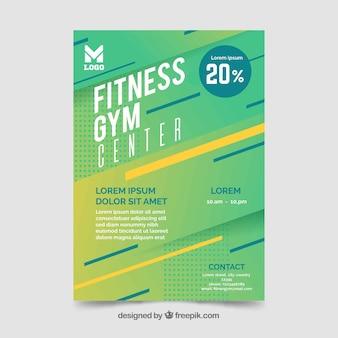 Modèle de flyer de gym moderne avec un design abstrait