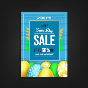 Modèle de flyer happy ester day sale
