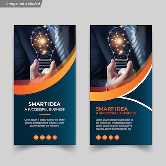 Modèle de flyer d'idée d'entreprise créative et numérique