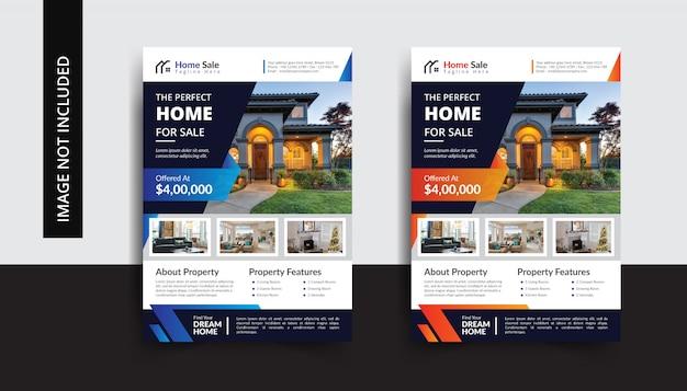 Modèle de flyer de immobilier à vendre
