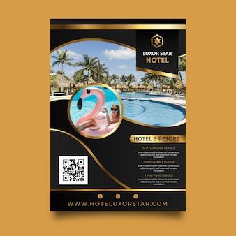 Modèle de flyer d'informations sur l'hôtel