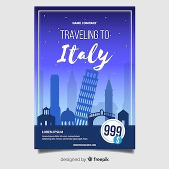 Modèle de flyer italie