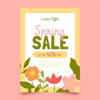 Modèle de flyer de jolie vente de printemps