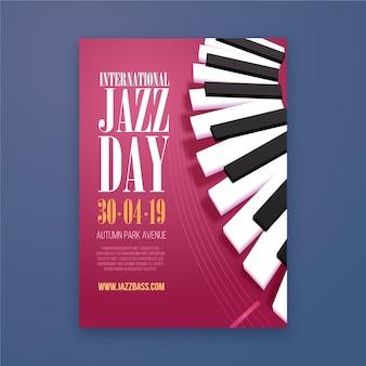 Modèle de flyer de la journée internationale du jazz