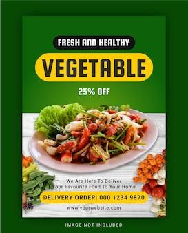 Modèle de flyer de légumes frais et sains