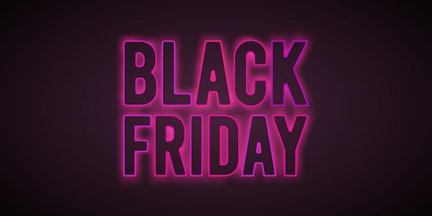 Modèle de flyer de lumières roses de vente vendredi noir