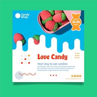 Modèle de flyer de magasin de bonbons
