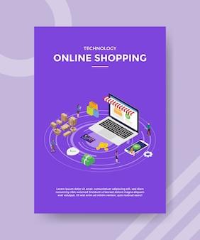 Modèle de flyer de magasinage en ligne de technologie