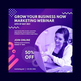 Modèle de flyer de marketing business au carré