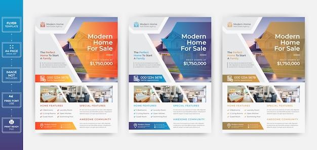 Modèle de flyer de médias sociaux de l'immobilier moderne