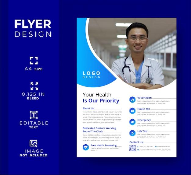 Modèle de flyer médical