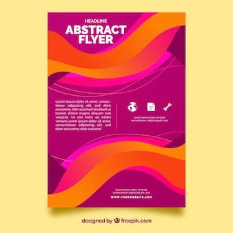 Modèle de flyer moden avec un design abstrait
