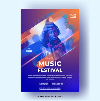 Modèle de flyer moderne. festival de musique