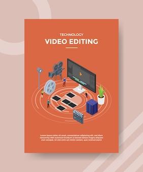 Modèle de flyer de montage vidéo technologique