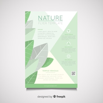 Modèle de flyer nature