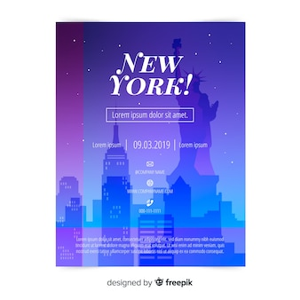Modèle de flyer de new york