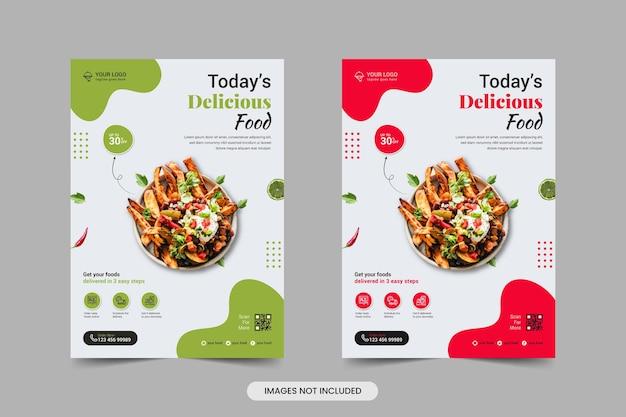 Modèle de flyer de nourriture
