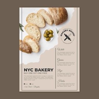 Modèle de flyer de pain avec photo