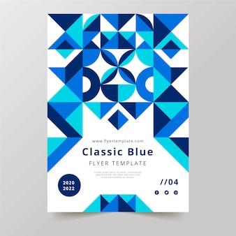 Modèle de flyer de palette bleu classique