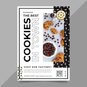 Modèle de flyer avec photo de cookies