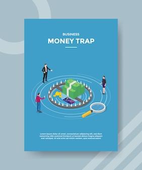 Modèle de flyer de piège à argent commercial
