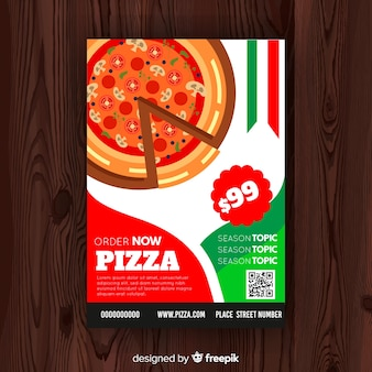 Modèle de flyer pizza simple