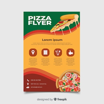 Modèle flyer pizza