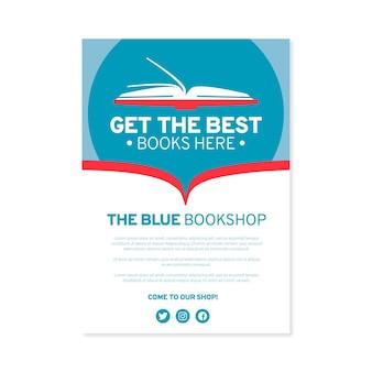 Modèle de flyer plat bookshop a5