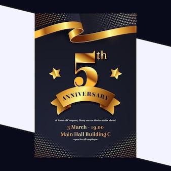 Modèle de flyer pour un anniversaire d'investissement