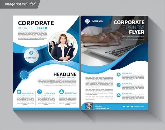 Modèle de flyer pour la brochure de couverture corporative