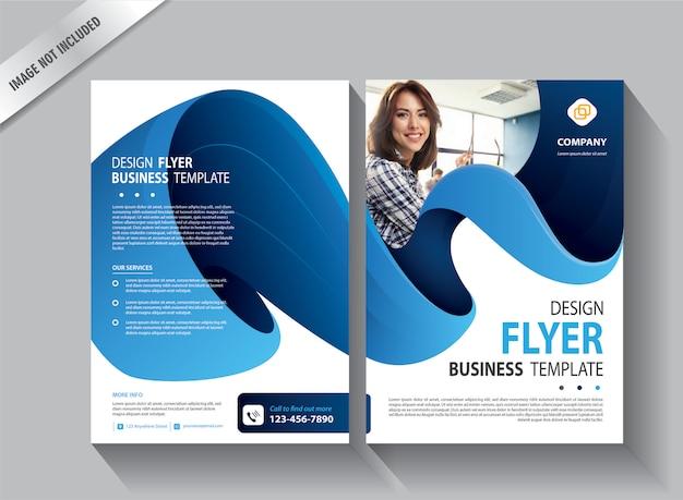 Modèle de flyer pour le rapport annuel de couverture
