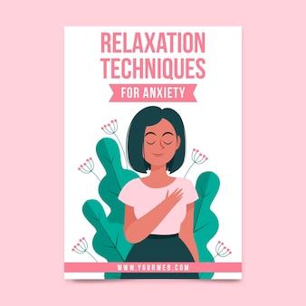 Modèle de flyer pour les techniques de relaxation