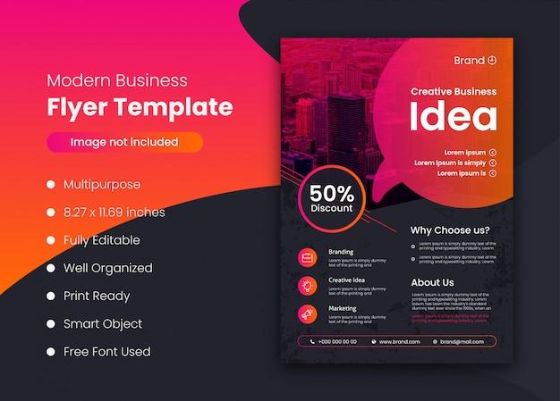 Modèle de flyer de promotion commerciale unique