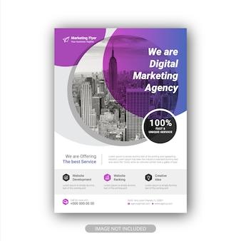 Modèle de flyer de promotion d'entreprise moderne et créatif