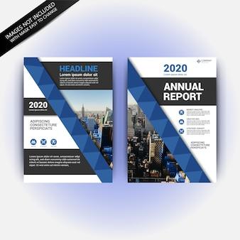 Modèle de flyer de rapport annuel moderne
