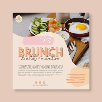 Modèle de flyer de restaurant brunch