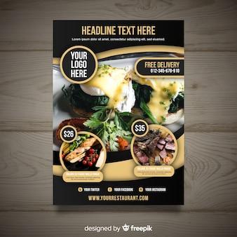 Modèle de flyer restaurant gastronomique moderne